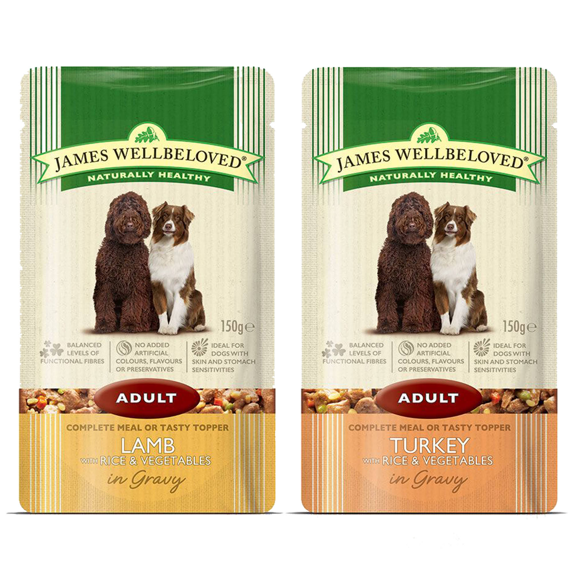 James Wellbeloved Adult Complete Balanced Dog Food - Lamb with Rice and Vegetables