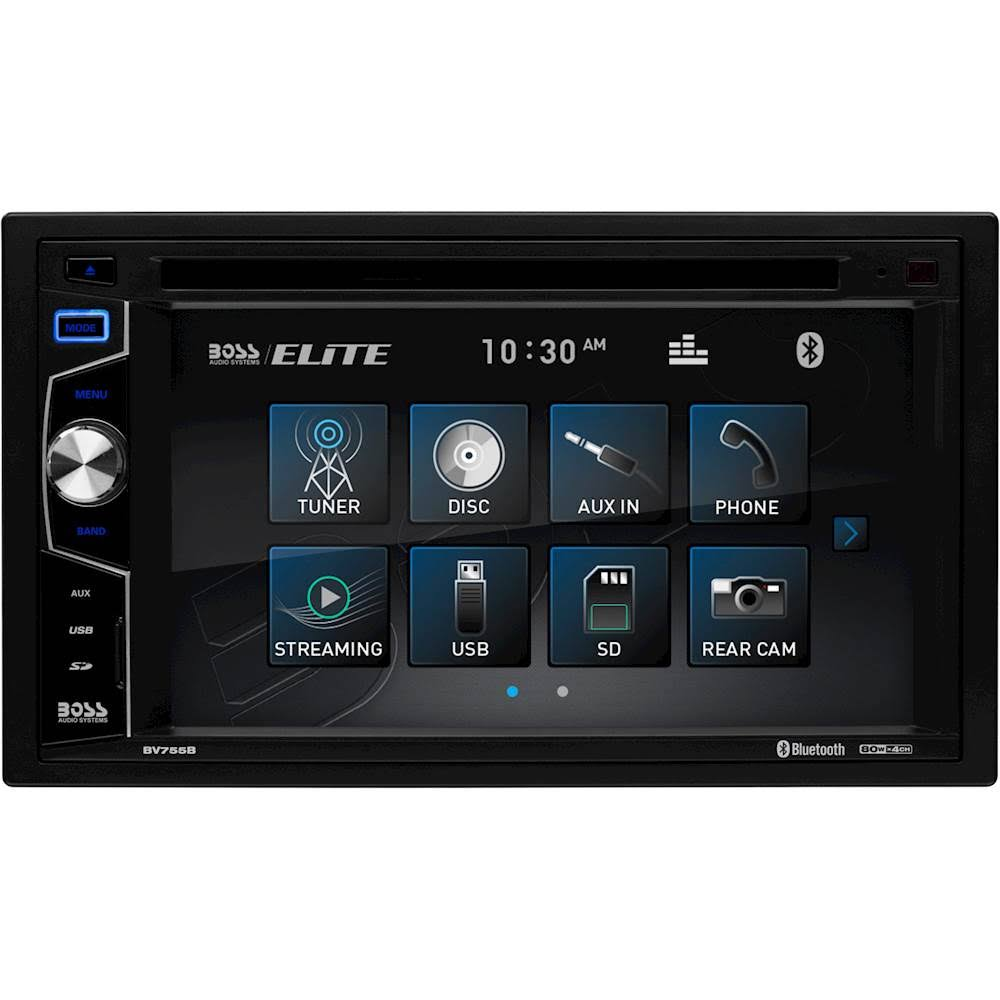 Boss Elite BV755B DVD Receiver - with Bluetooth, 6.2""