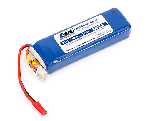 E-Flite Jst Battery - 1000mAh, 11.1V, 20C