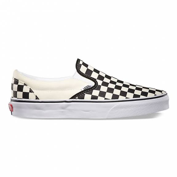 Vans Women's Classic Slip On Shoes - Black/White Checkerboard, 6 B US