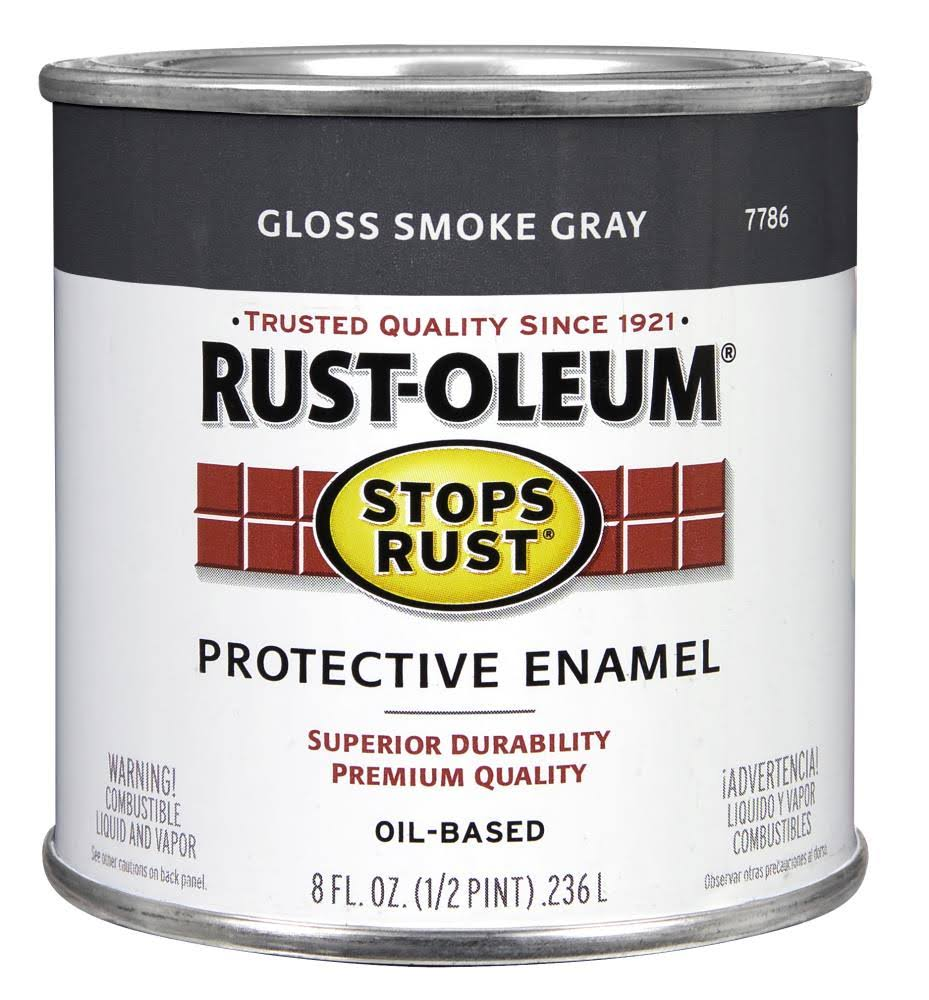 Rust-Oleum Stops Rust Protective Enamel - Gloss Smoke Gray, .236l