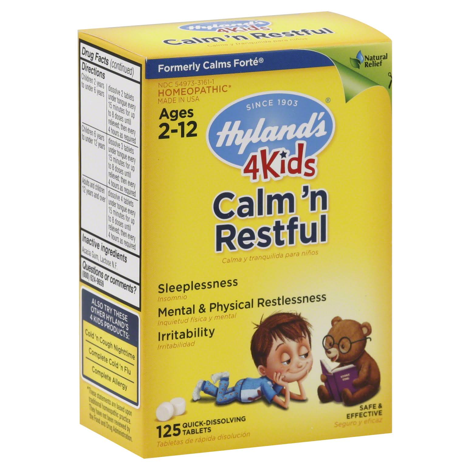 Hyland's 4Kids Calm 'n Restful Tablets - x125