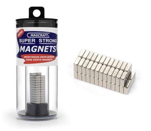"Magcraft Rare Earth Block Magnets - 50ct, 1/4"" x 1/4"" x 1/10"""