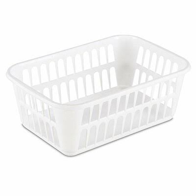 Sterilite Plastic Storage Basket - White, Medium