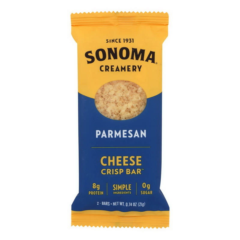 Sonoma Creamery Crisp Bar, Cheese, Parmesan - 2 bars, 0.74 oz