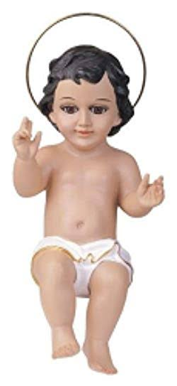 Stealstreet Baby Jesus with Glass Eyes Holy Religious Figurine Decoration, 16""