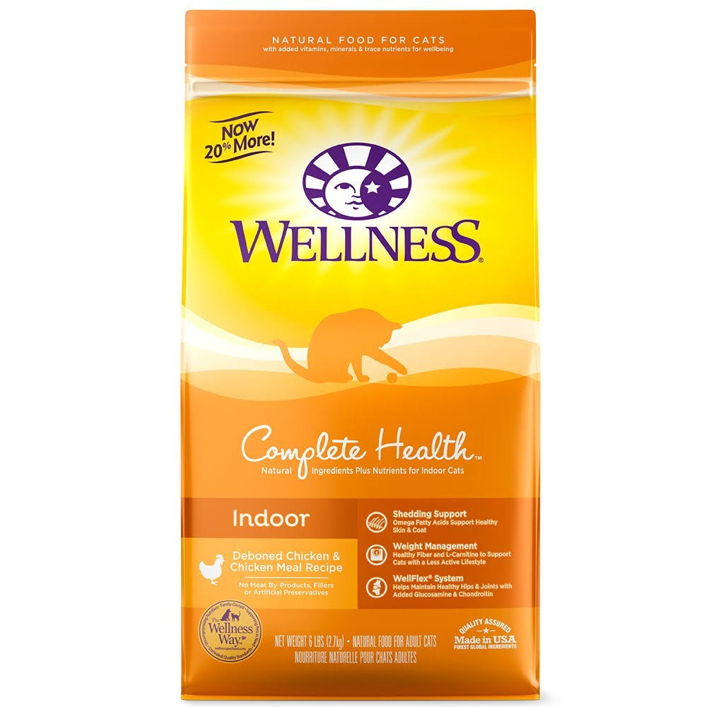 Wellness Complete Natural Indoor Health Chicken Recipe Dry Cat Food 6-lb