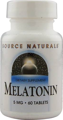 Source Naturals - Melatonin, 5 mg, 60 Tablets