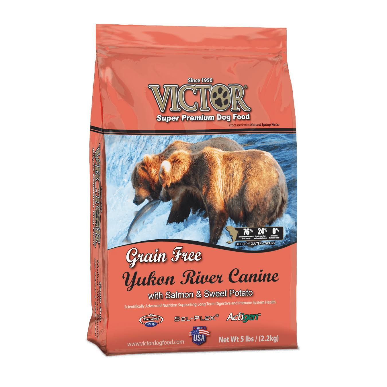 Victor Yukon River Canine Dog Food - Salmon and Sweet Potato, 5lbs