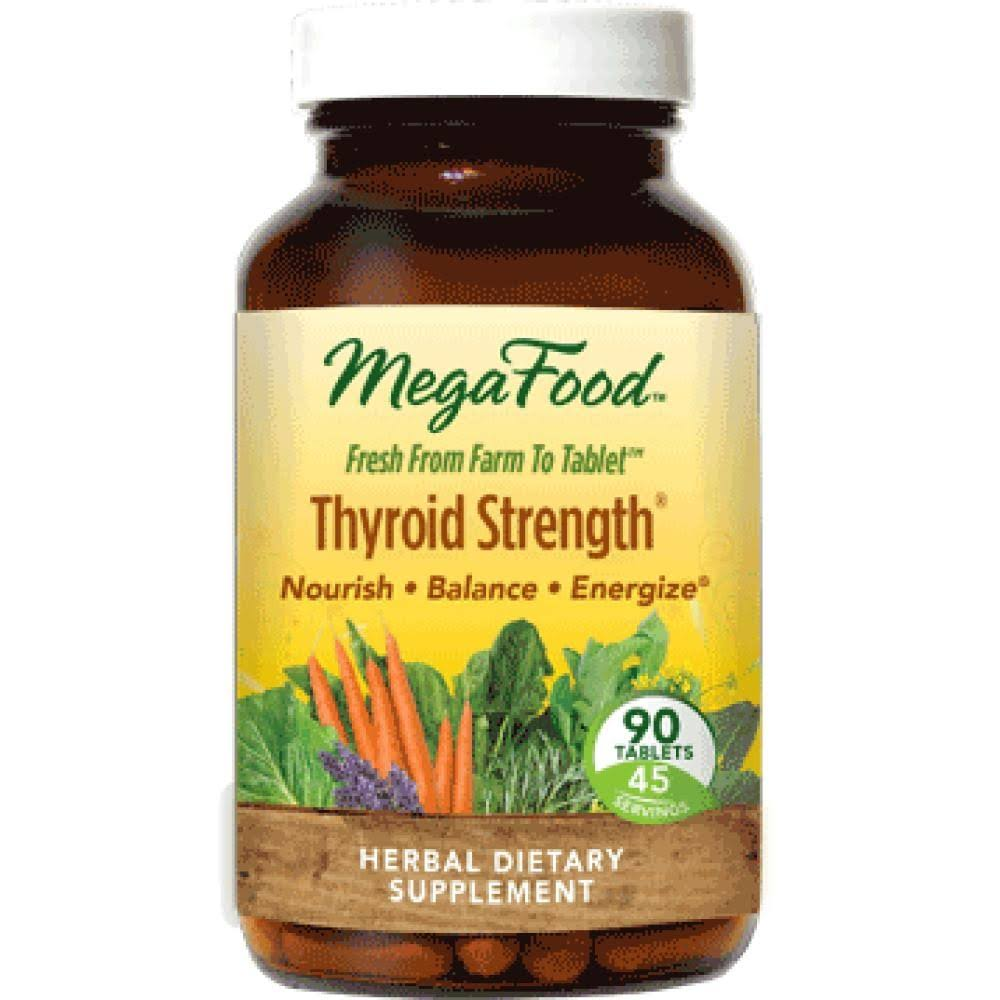 MegaFood Thyroid Strength Supplement - 90 Tablets