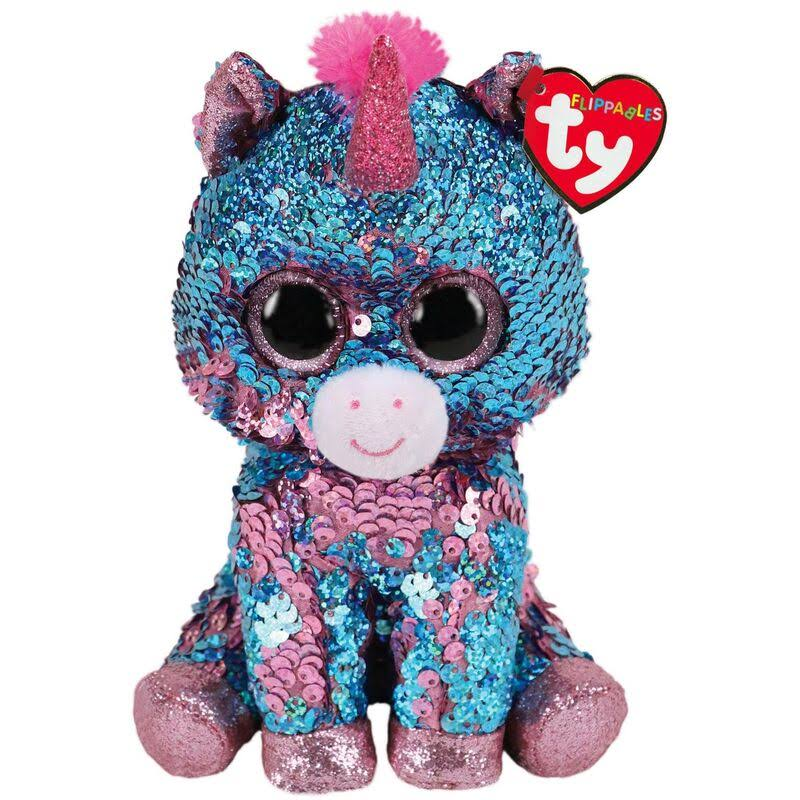 Ty Flippables Celeste The Unicorn Sequin Medium Stuffed Animal, 9""