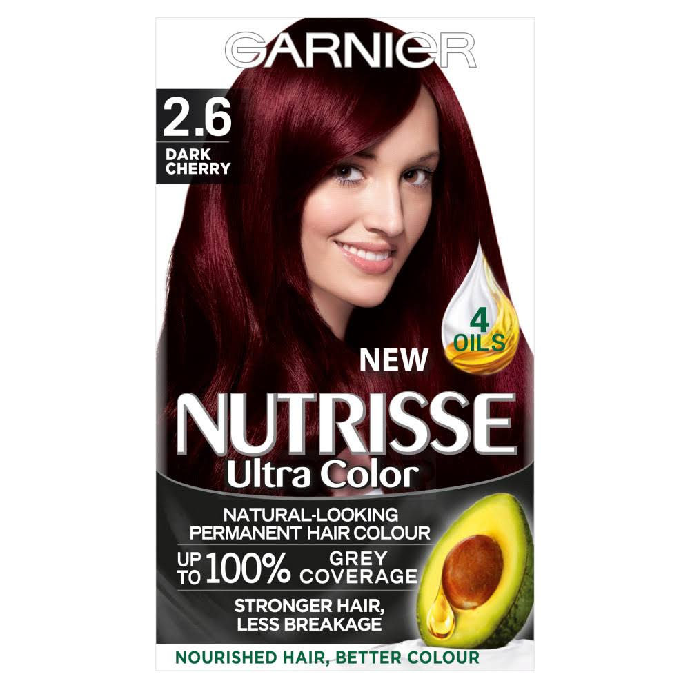 Garnier Nutrisse Permanent Hair Dye - 2.6 Dark Cherry Red