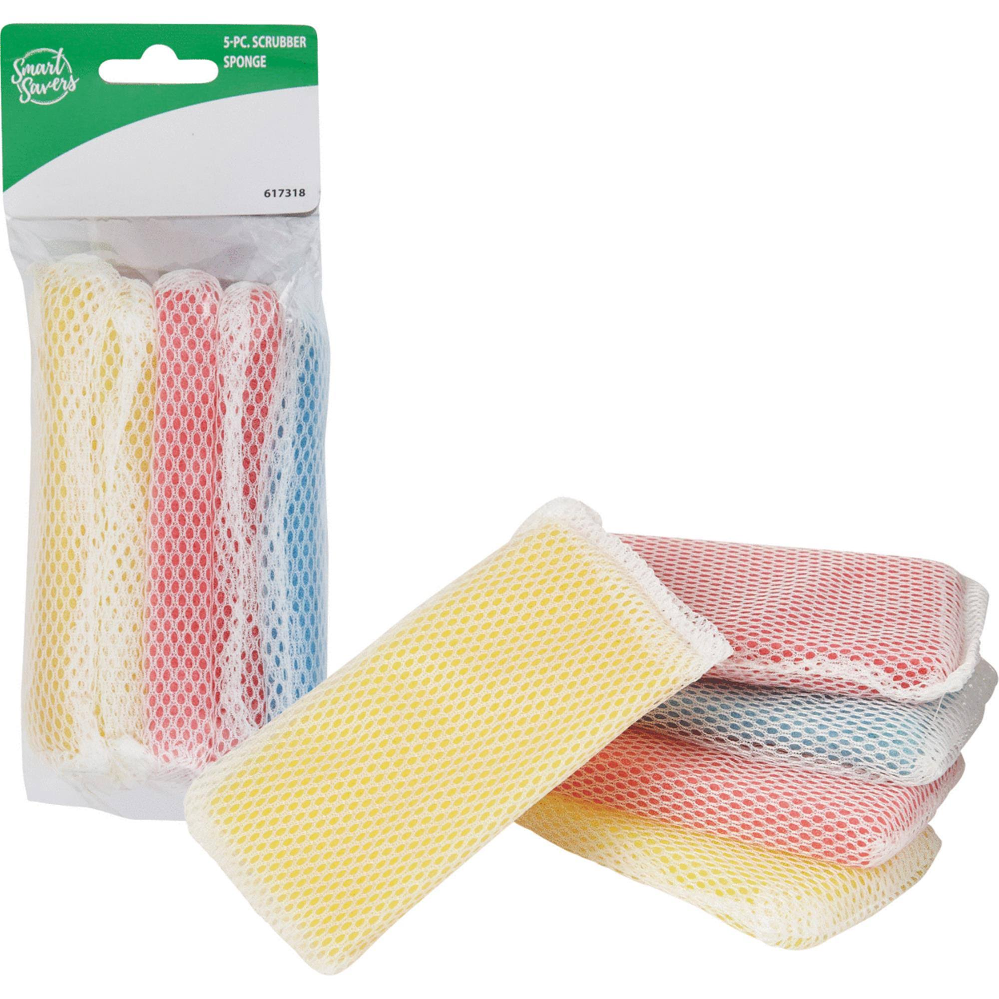 Smart Savers Sponge Scrubber - Assorted Colours, 8 Pack