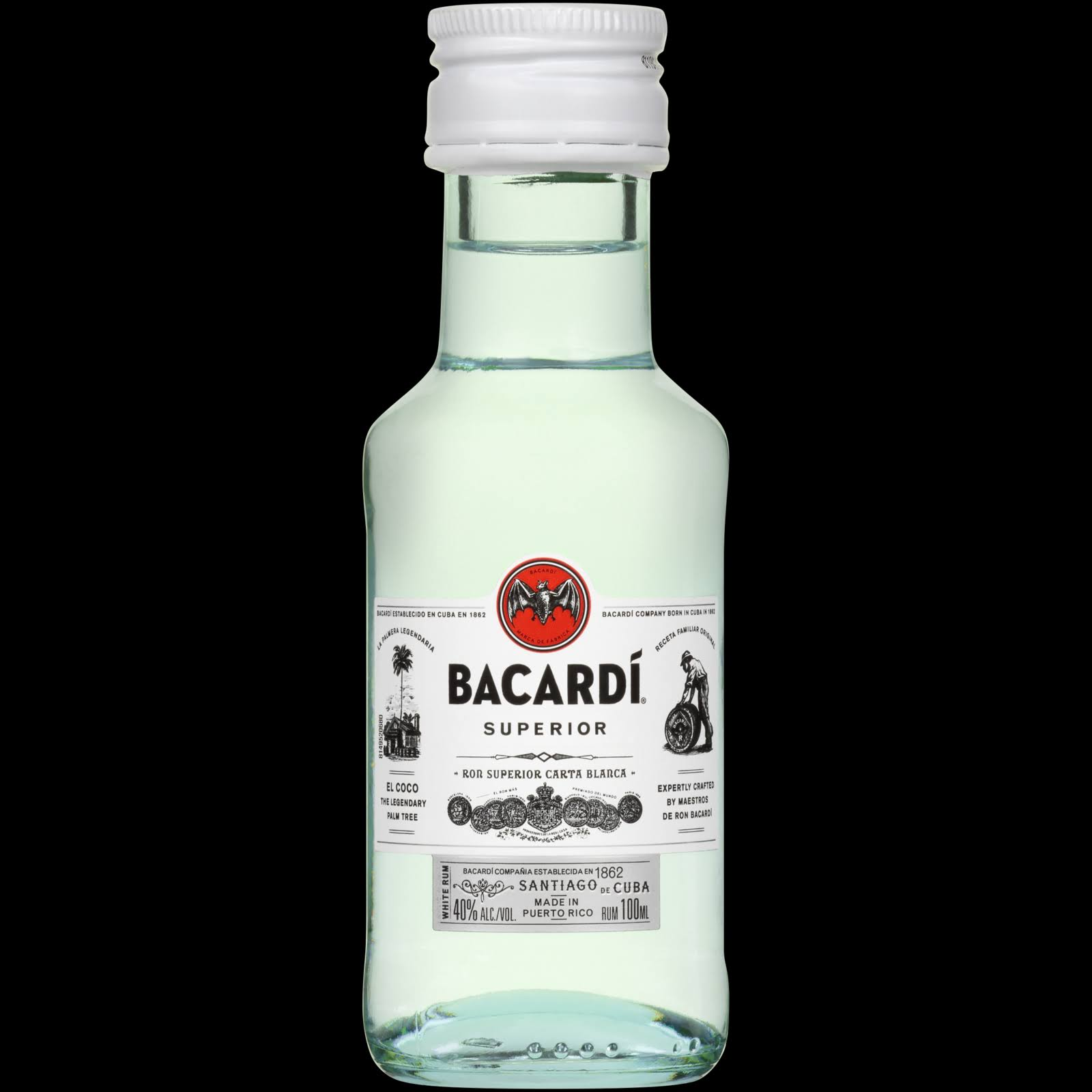 Bacardi Rum, White - 100 ml