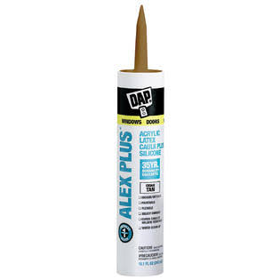 Dap Alex Plus Acrylic Latex Caulk + Silicone - Cedar Tan, 10.1oz