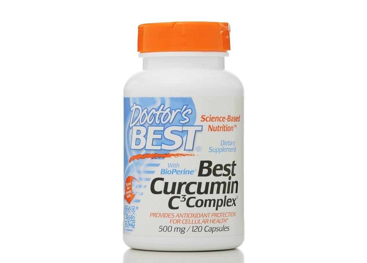 Doctor's Best High Absorption Curcumin with C3 500 MG 120 Capsules