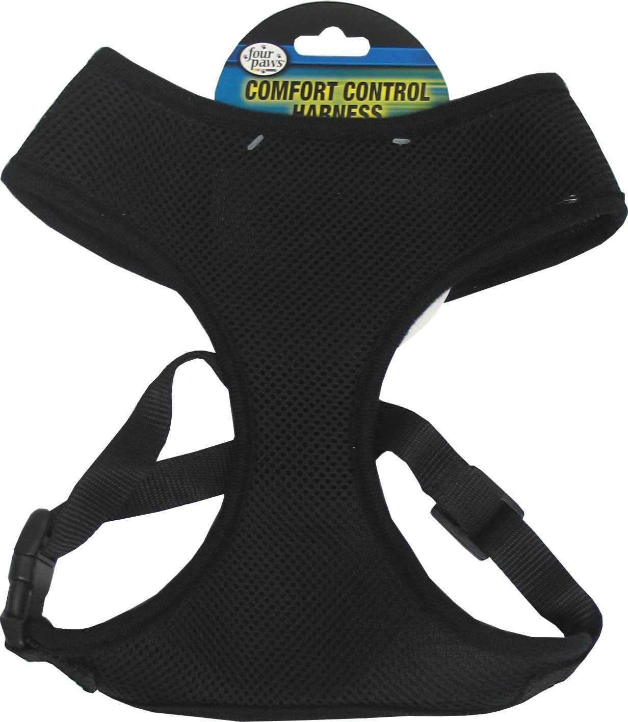 Four Paws Products Small Comfort Control Dog Harness - Black