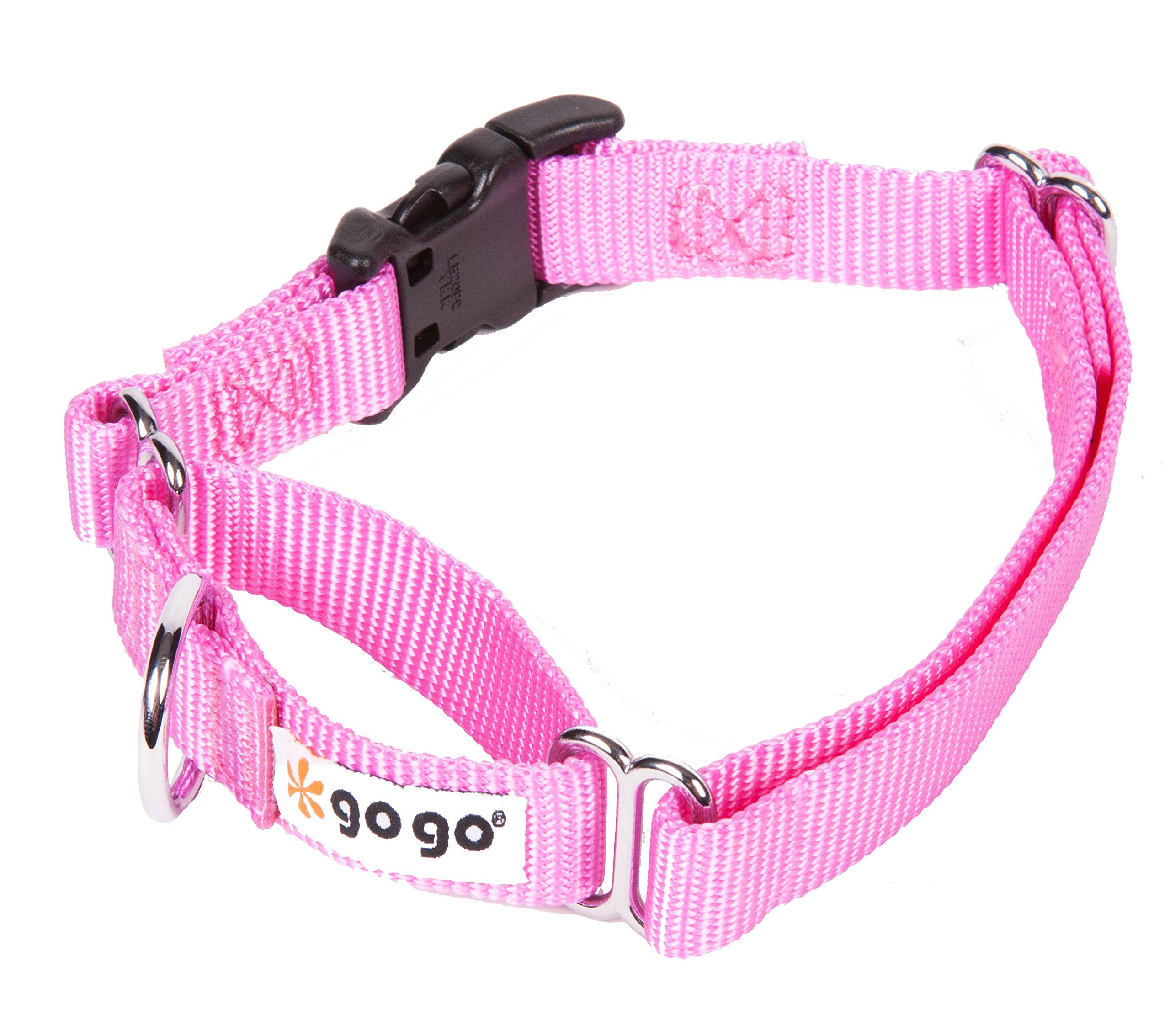 Gogo Pet Products Martingale Gentle Training Collar Medium Large Pink