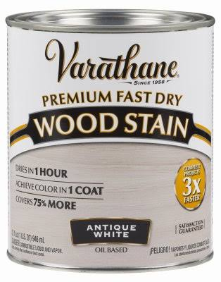 Varathane 297424 Premium Fast Dry Wood Stain - 32oz, Antique White