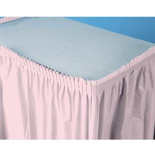 Creative Converting Plastic Table Skirt - Classic Pink, 14'