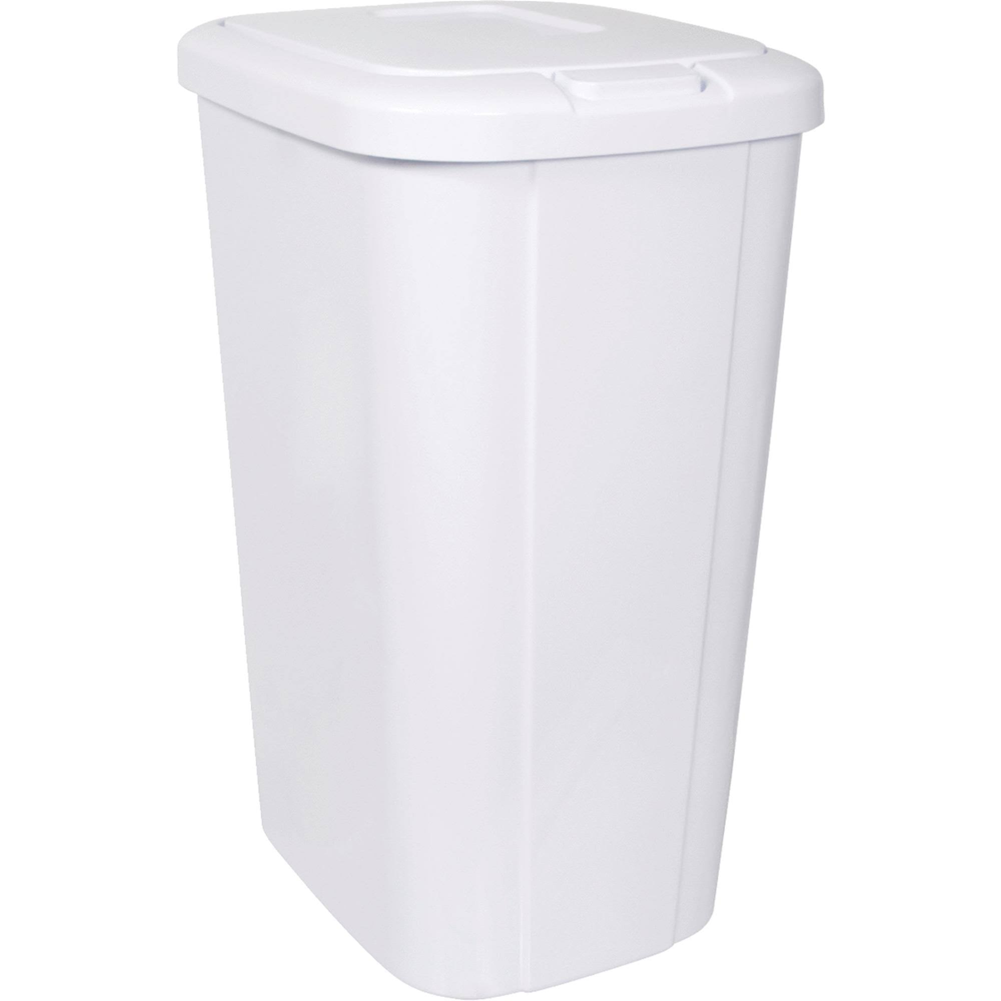 Hefty Touch Lid Trash Can - White, 13.3 Gal