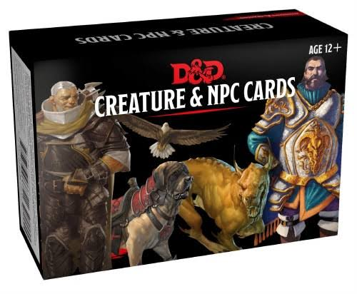 Dungeons & Dragons Spellbook Cards: Creature & NPC Cards - Wizards RPG Team