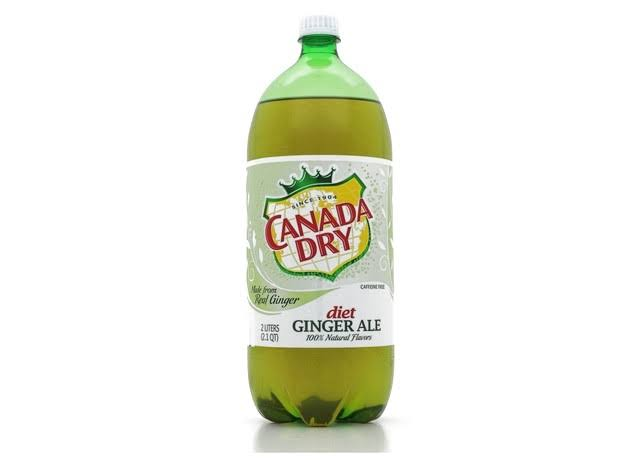 Canada Dry Ginger Ale, Diet - 2 liters (2.1 qt)