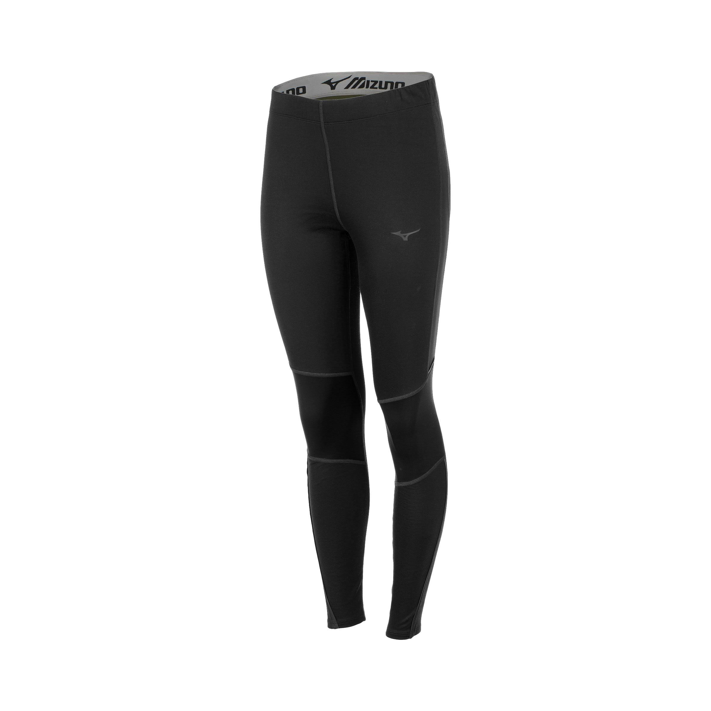 Mizuno - Women's Breath Thermo Tights, Black, Size Large