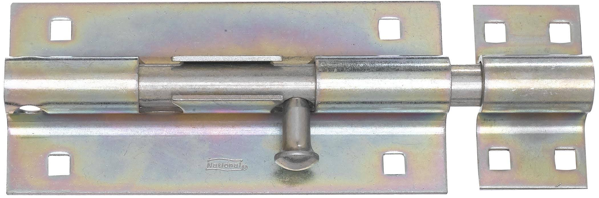 National Hardware Zinc Plated Extra Heavy Barrel Bolt - 8""