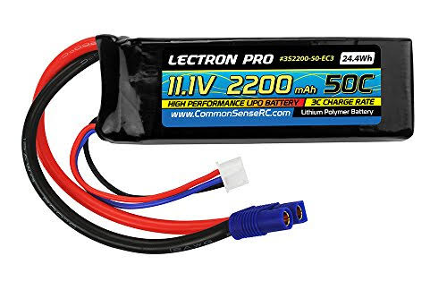 Lectron Pro 50C Battery with EC3 - 11.1V, 2200mAh