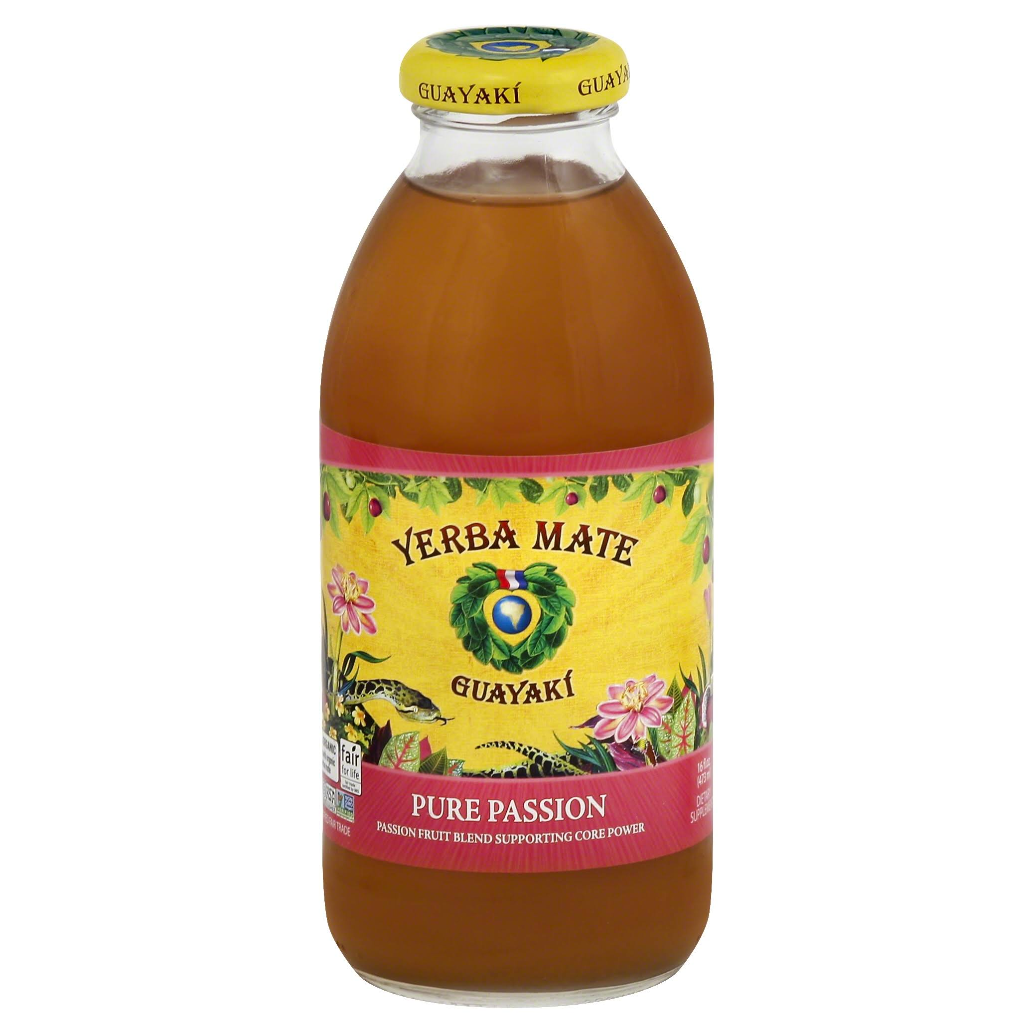 Guayaki Yerba Mate, Pure Passion - 16 fl oz