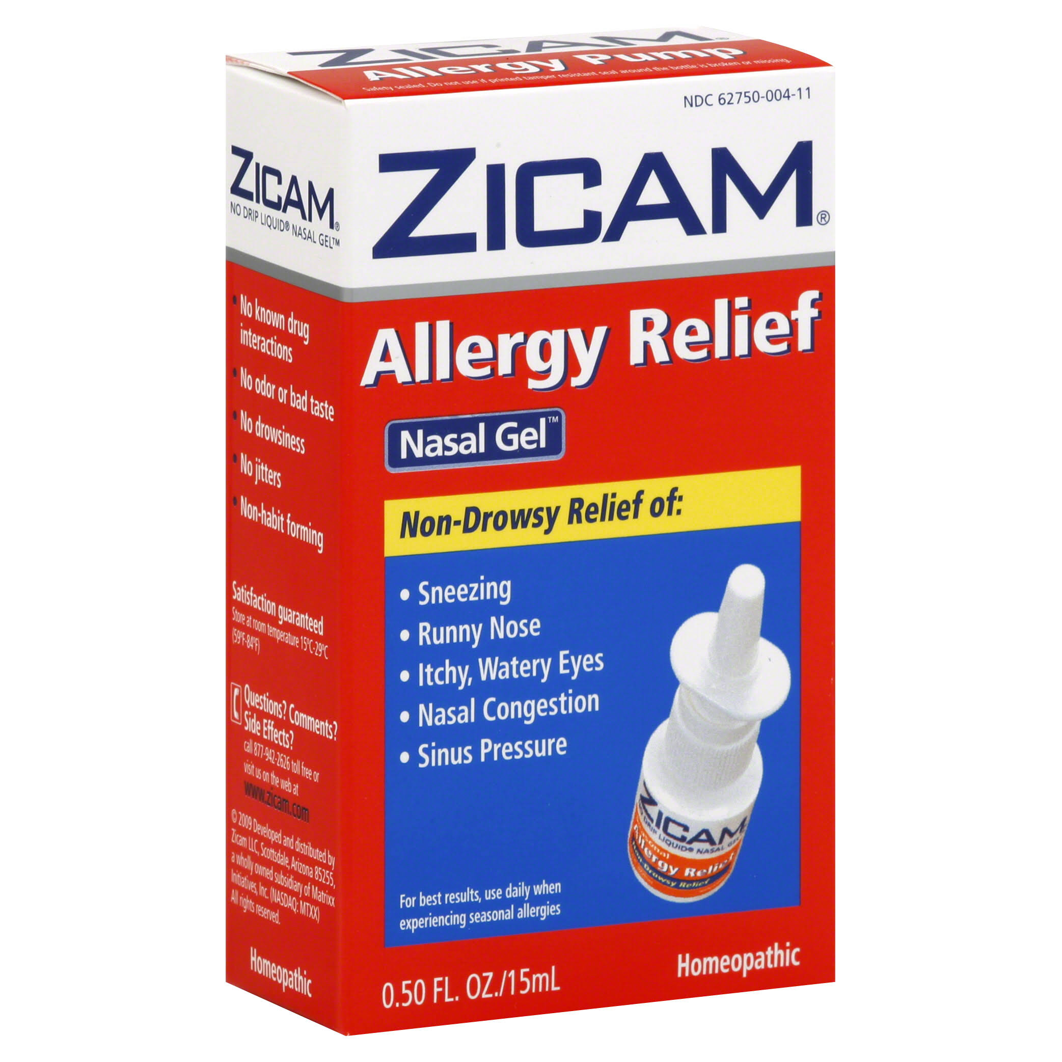Zicam Allergy Relief No-Drip Liquid Nasal Gel