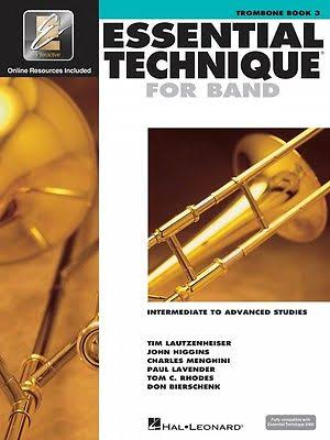 Hal Leonard Essential Technique for Band: Trombone 3 Music Book