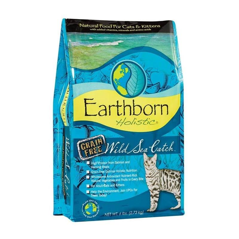 Earthborn Holistic Natural Grain-Free Dry Cat Food - Wild Sea Catch