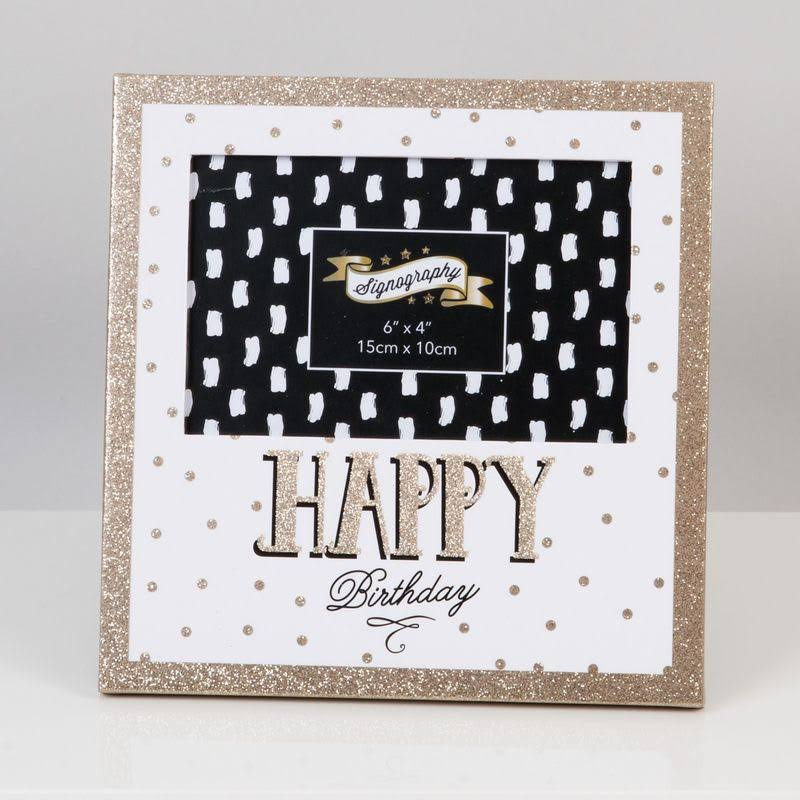 WIDDOP 6' x 4' - Signography Photo Frame - Happy Birthday