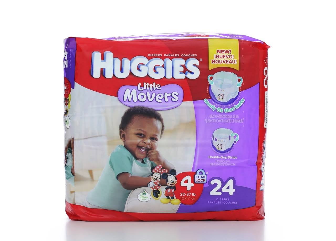 Huggies Little Movers Diapers - Size 4, 24ct
