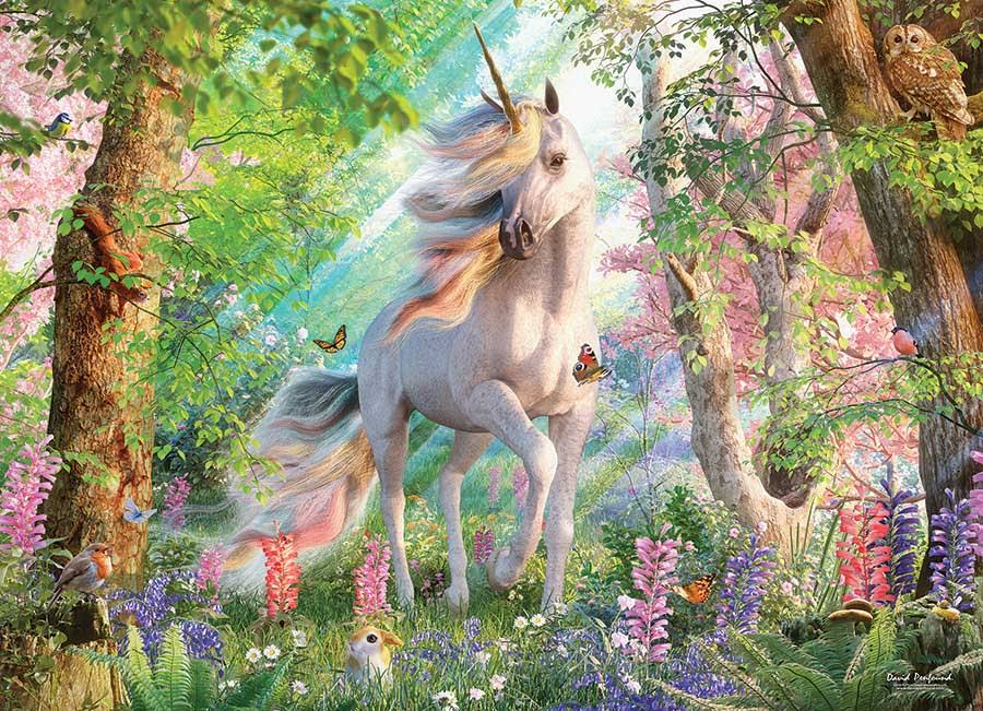 Unicorn in The Woods - 500pc Jigsaw Puzzle by Cobble Hill