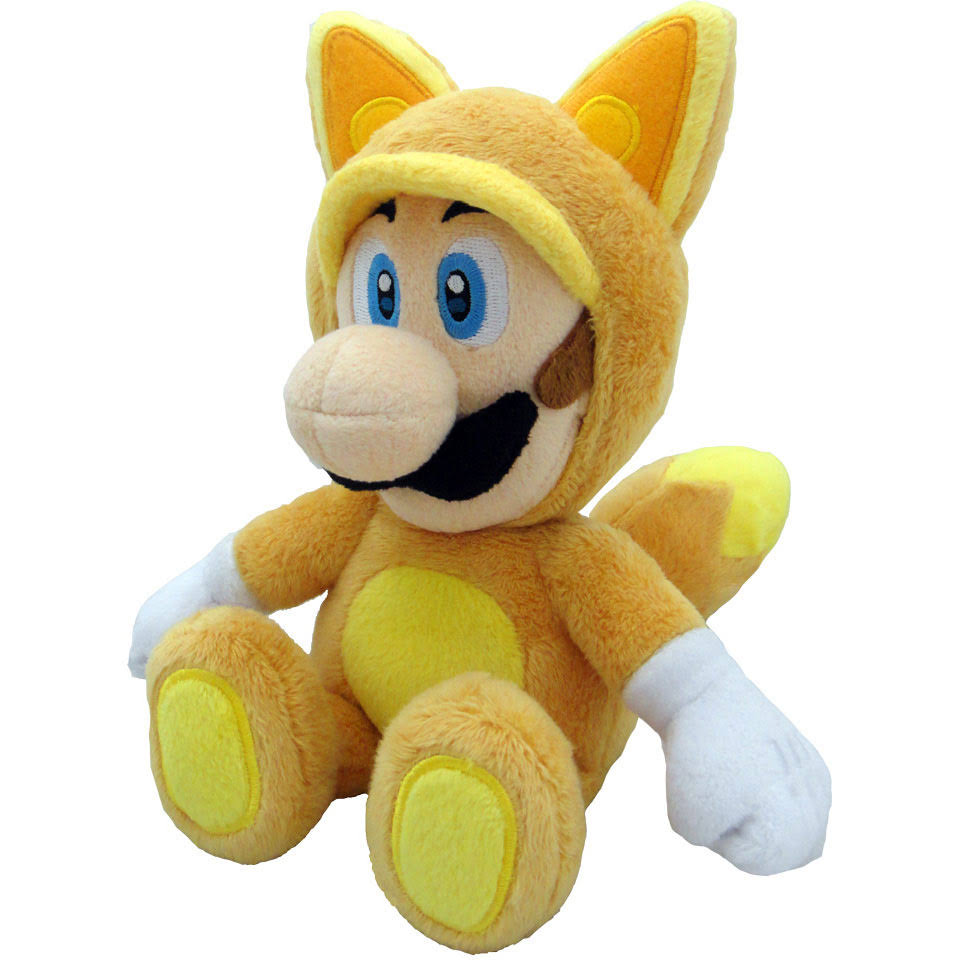 Nintendo Little Buddy Official Super Mario Plush Toy - Kitsune Fox Luigi, 9""