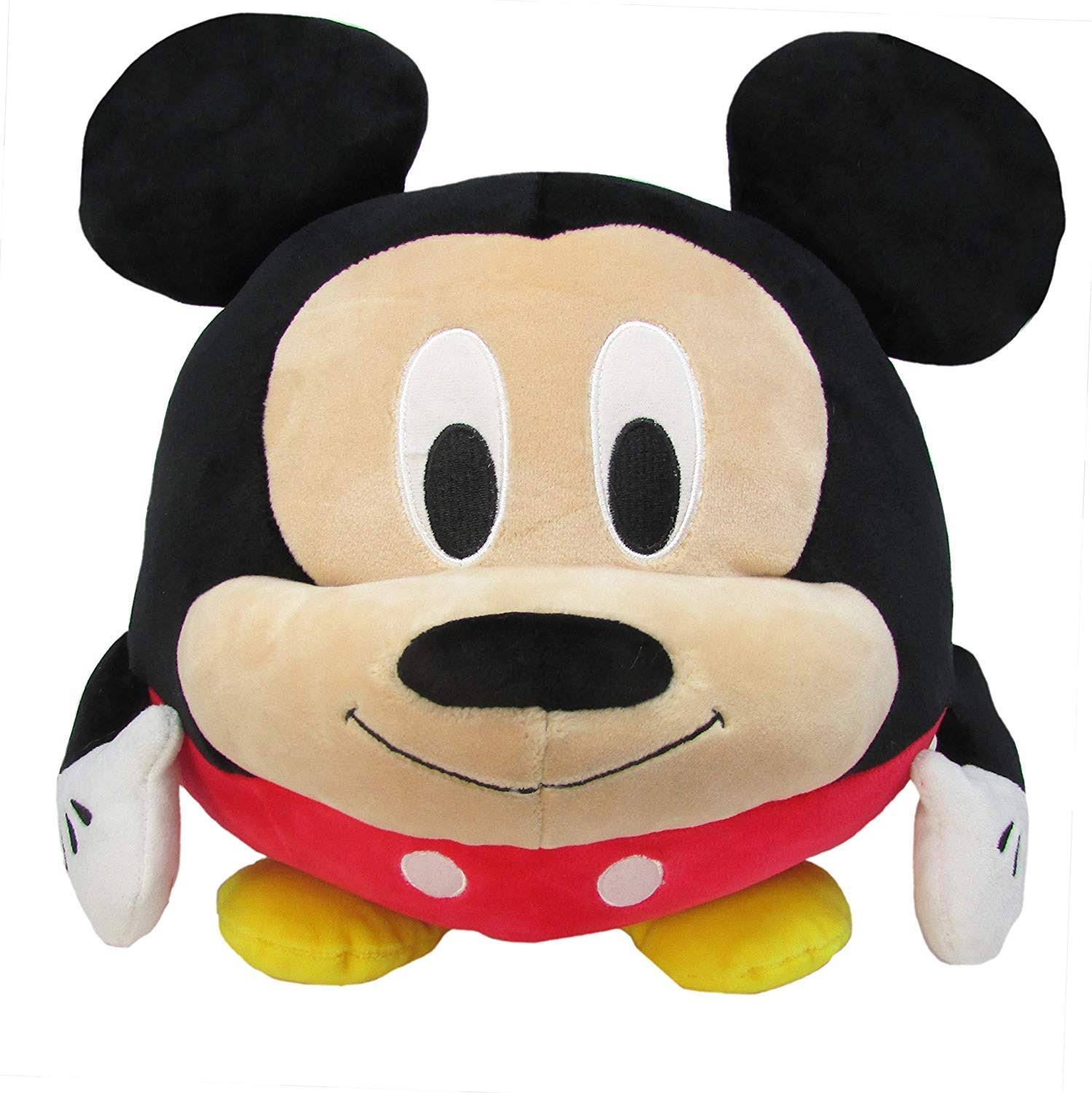 Cuddle Pal Disney Mickey Mouse Round Stuffed Animal Plush Toy, 10 Inches