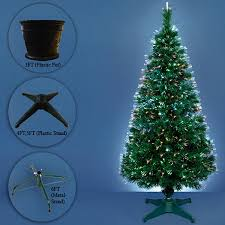 Christmas Tree Amazon Prime by Funkybuys 3ft Green Fibre Optic Pop Up Prelit Christmas Tree With