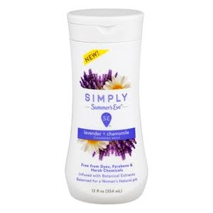 Summer's Eve Simply Cleansing Wash, Lavender & Chamomile 12 oz