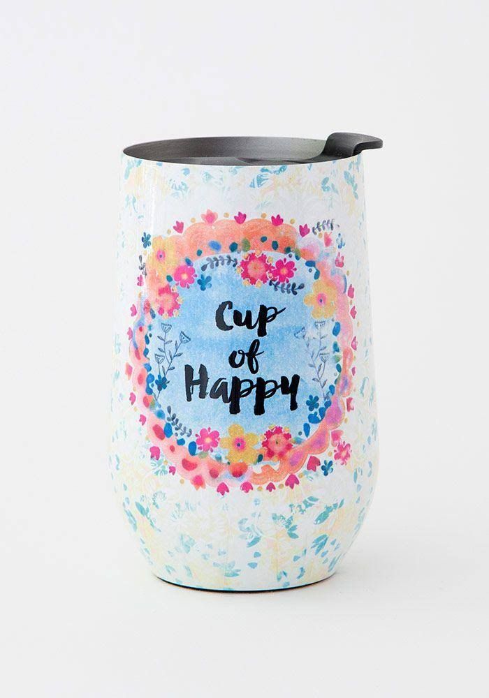 Natural Life Cup of Happy Wine Tumbler