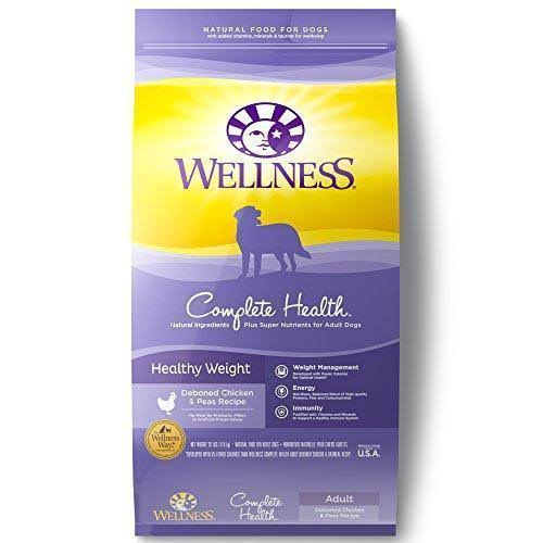 Wellness Complete Health Healthy Weight Dog Food - Deboned Chicken and Peas, Adult, 26lbs