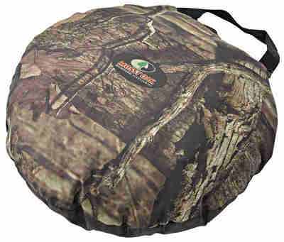 Mossy Oak Insulated Seat Cushion - Black Camo