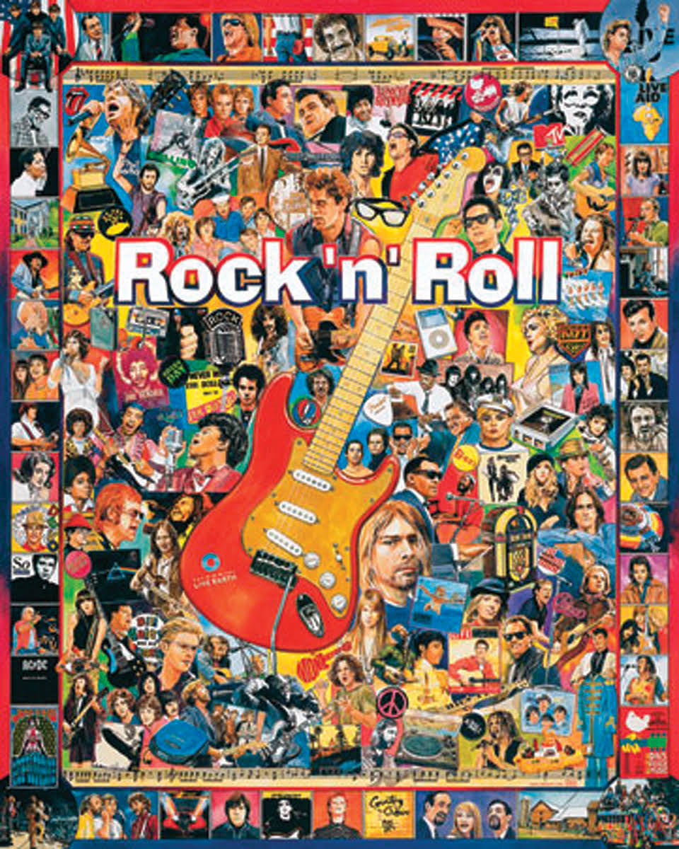 White Mountain Puzzles Rock 'N' Roll Puzzle - 1000 Pieces