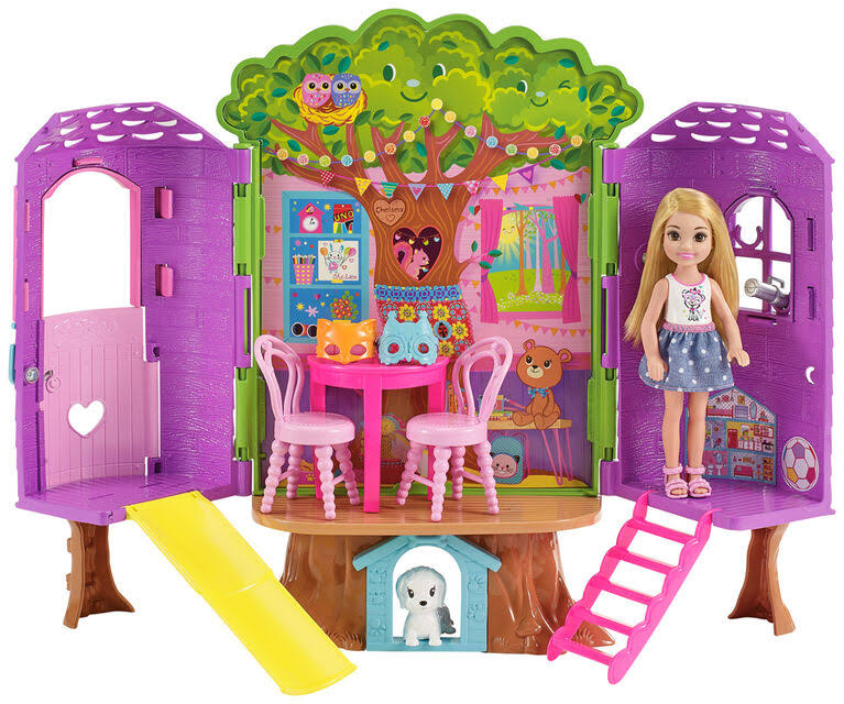 Barbie Club Chelsea Doll And Treehouse Playset
