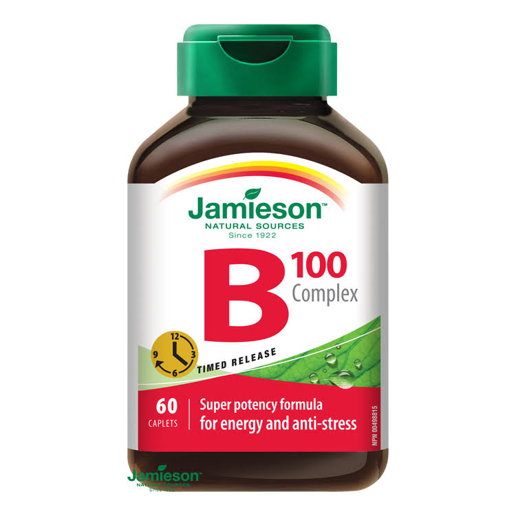 Jamieson B Complex Timed Release Caplets - 100mg, x60
