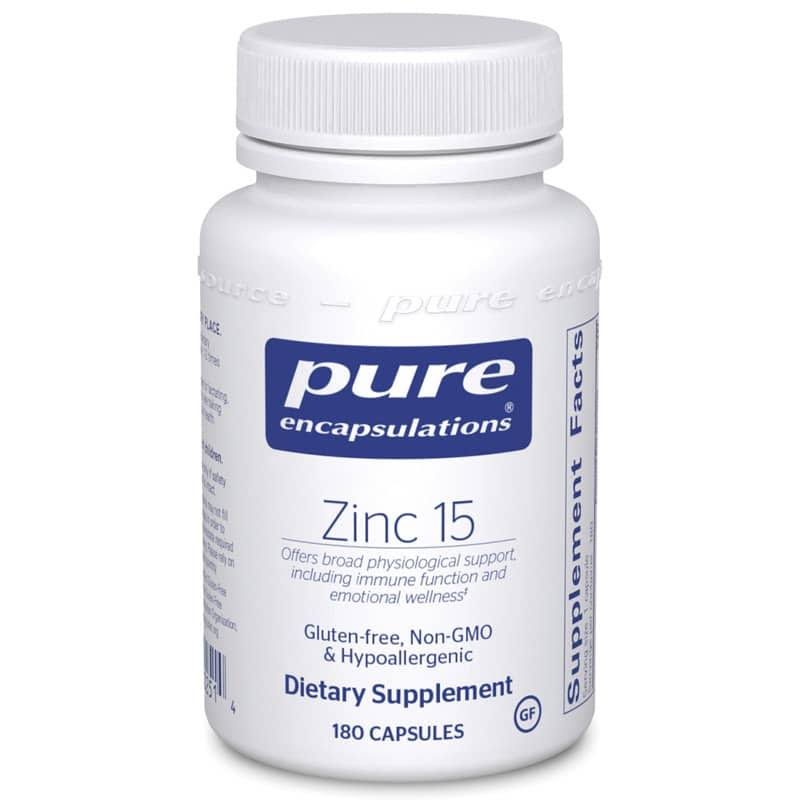 Pure Encapsulations Zinc 15 Supplement - 180ct