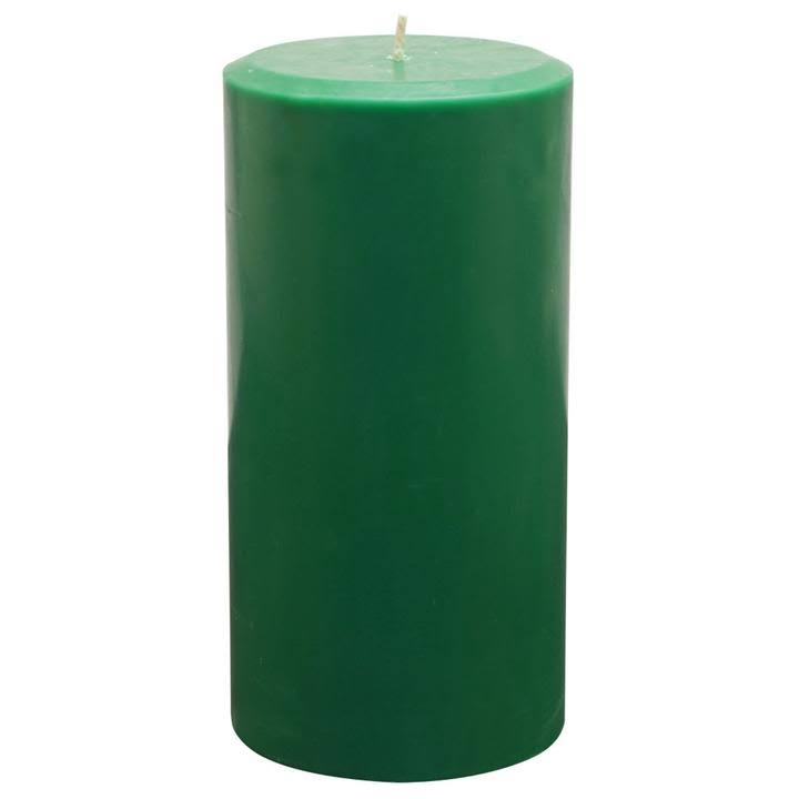 Northern Lights Unfragranced PILLAR, Hunter Green, Size: 3