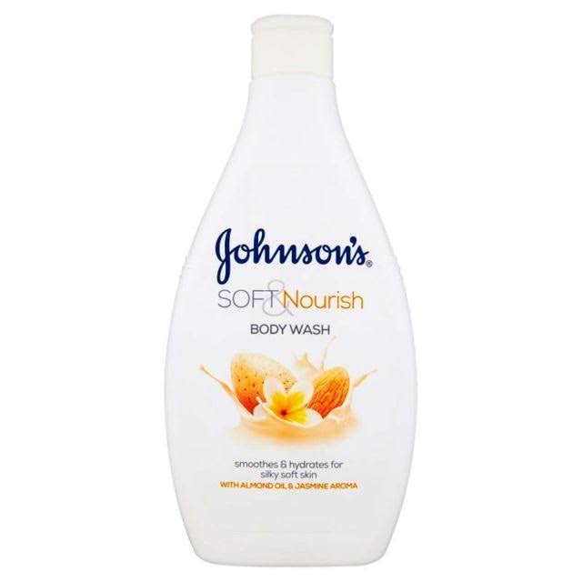 Johnson's Soft and Nourish Body Wash - with Almond Oil and Jasmine Aroma, 400ml